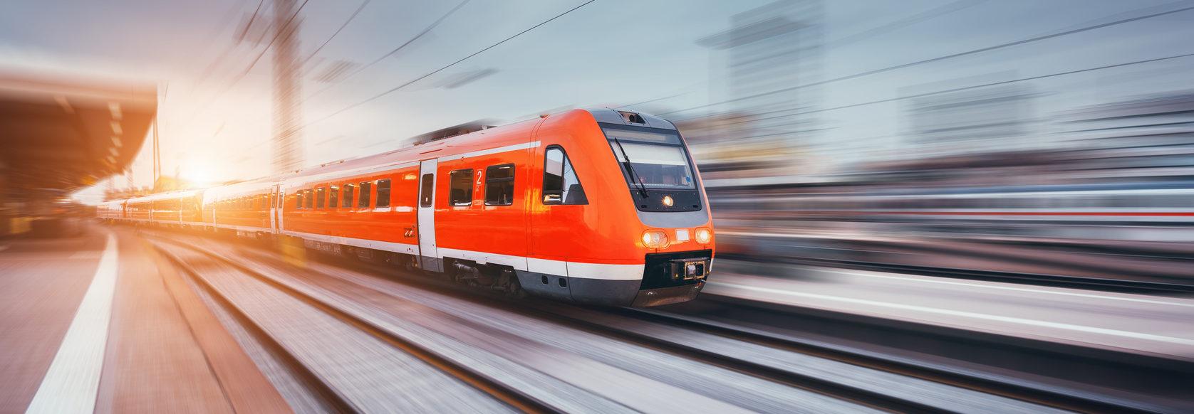Schnellzug Bahnhof